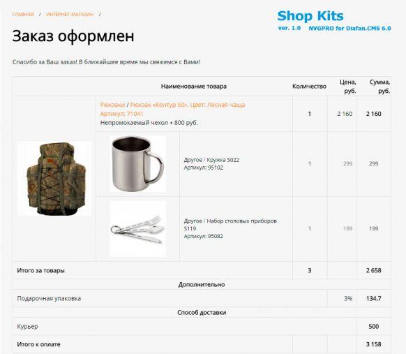 Комплекты товаров