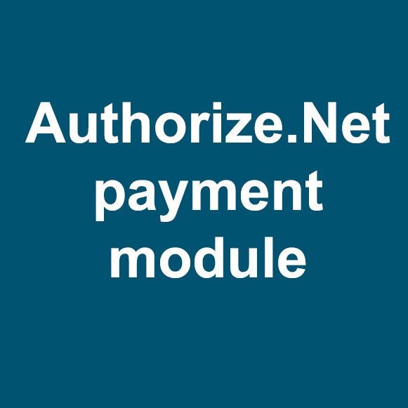 Authorize.net payment module
