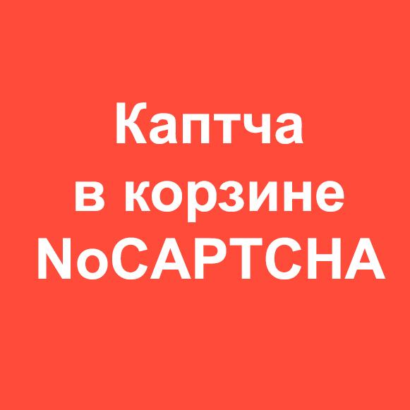 Каптча в корзине (NoCAPTCHA)