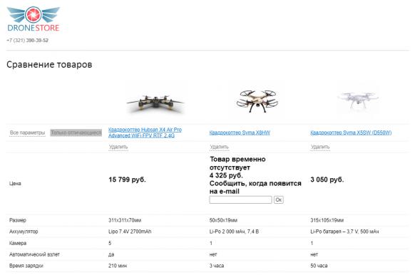Адаптивный магазин дронов